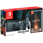 Nintendo Switch (серый) + игра Dark Souls: Remastered