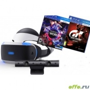 Sony PlayStation VR Шлем виртуальной реальности + камера + Gran Turismo Sport + PlayStation VR Worlds
