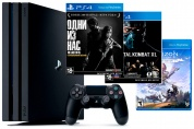 Игровая приставка Sony PlayStation 4 Pro + The Last of Us + Mortal Kombat XL + Horizon Zero Dawn