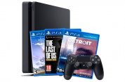 Sony PlayStation 4 Slim 500 GB Black + The Last of Us+Detroit+Horizon Zero Dawn