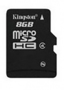 Карта памяти Kingston microSDHC Class 4 8GB + SD adapter