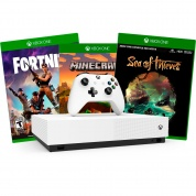 XBOX One S All-Digital Edition 1Tb + Minecraft + Sea of Thieves + Fortnite + XBOX LIVE GOLD