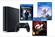Sony PlayStation 4 Slim 500Gb Black + Uncharted 4 + Gran Turismo Sport + Horizon Zero Dawn