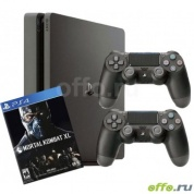 Игровая приставка Sony PlayStation 4 Slim 1 ТБ + 2-й джойстик + игра Mortal Kombat XL