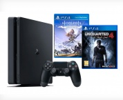 Игровая приставка Sony PlayStation 4 Slim 1 ТБ + игра Horizon Zero + игра Uncharted 4