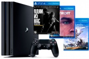 Игровая приставка Sony PlayStation 4 Pro + The Last of Us + Detroit + Horizon Zero Dawn